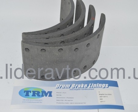 Накладка тормозная т.11мм комплект, TRM